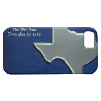 Silver Map of Texas iPhone 5 Covers