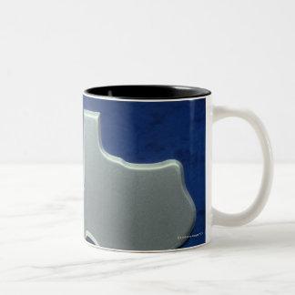 Silver Map of Texas Two-Tone Coffee Mug