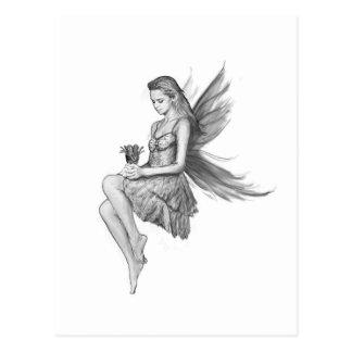 Silver Maple Fairy holding Flower Postcard