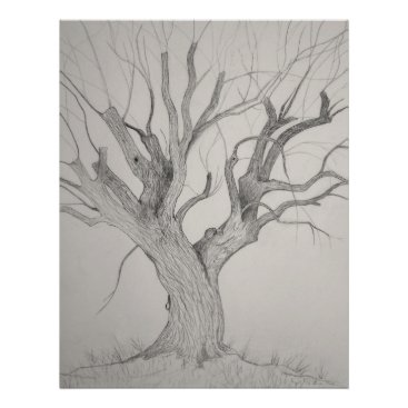 Art Themed Silver Maple Poster