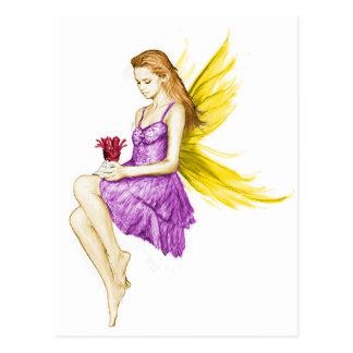 Silver Maple Tree Fairy Holding Flower Postcard