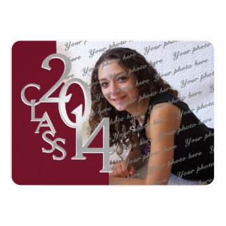 Maroon Silver Graduation Invitations Announcements Zazzle