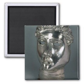Silver mask, Roman, 1st half of 3rd century AD (si 2 Inch Square Magnet