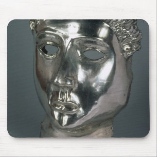 Silver mask, Roman, 1st half of 3rd century AD (si Mouse Pad