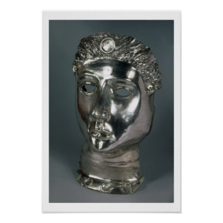 Silver mask, Roman, 1st half of 3rd century AD (si Poster
