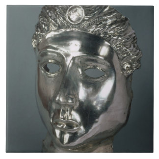 Silver mask, Roman, 1st half of 3rd century AD (si Tile