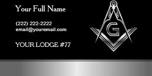Freemasons gifts on zazzle silver masonic business card template freemason maxwellsz