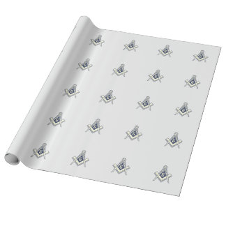 Silver Masonic Wrapping Paper