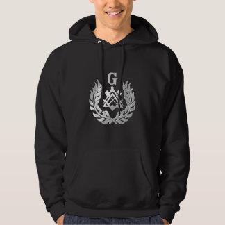 Silver masonry symbol hoodie