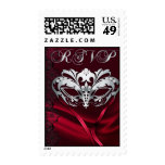 Silver Masquerade Red Rsvp Postage