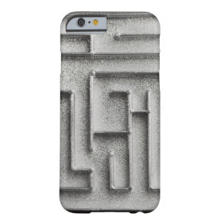 Silver maze barely there iPhone 6 case