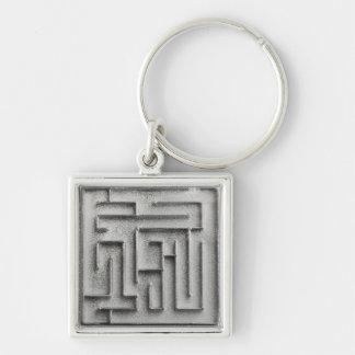 Silver maze keychains