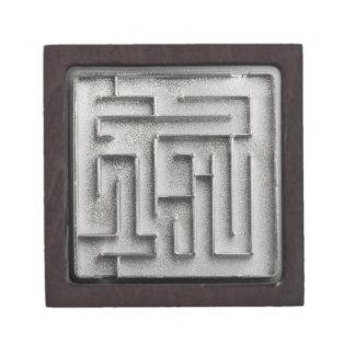 Silver maze premium jewelry box