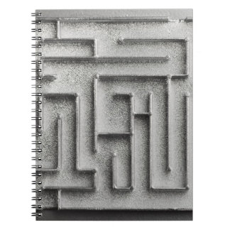 Silver maze spiral notebooks