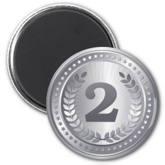 Silver medal 2nd place winner magnet