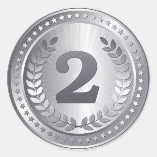 Silver medal 2nd place winner sticker