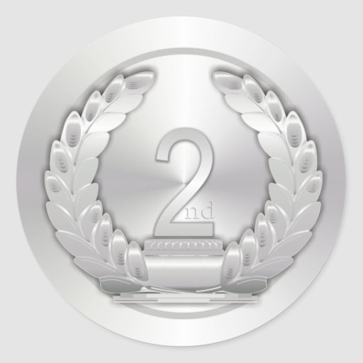 Silver Medal Classic Round Sticker