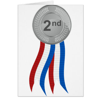 Silver Medal Icon Card
