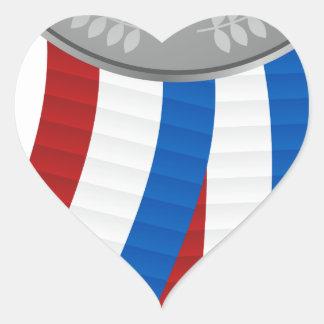 Silver Medal Icon Heart Sticker
