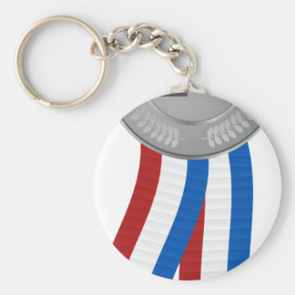 Silver Medal Icon Keychain