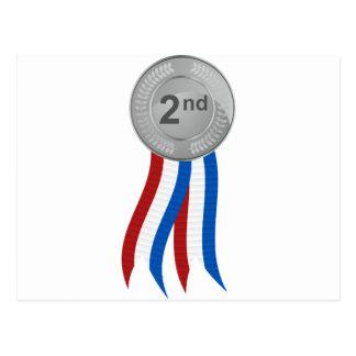 Silver Medal Icon Postcard