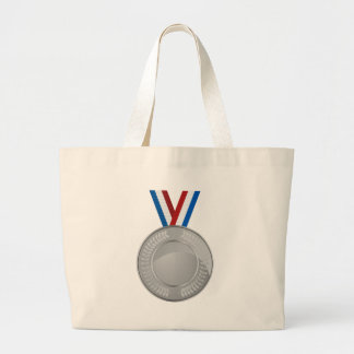 Silver Medal Large Tote Bag