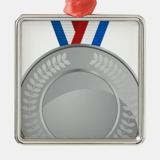 Silver Medal Metal Ornament