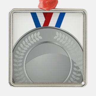 Silver Medal Metal Ornament