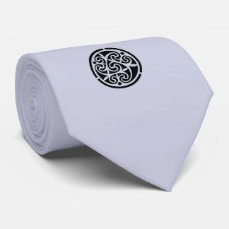 Silver Medallion Mens Tie