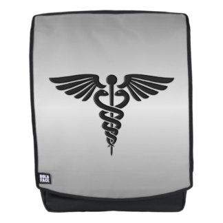 Silver Medical Caduceus Backpack