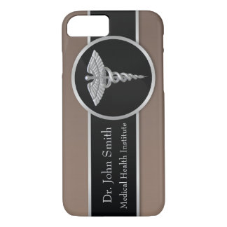 Silver Medical Caduceus - iPhone Case