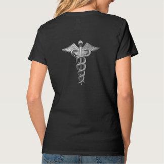 Silver Medical Caduceus T-Shirt
