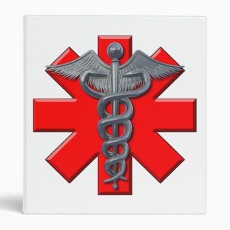 Silver Medical Profession Symbol Binder