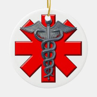 Silver Medical Profession Symbol Ceramic Ornament