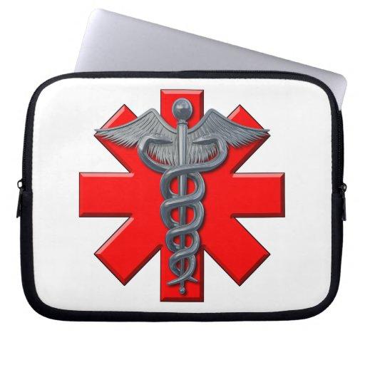 Silver Medical Profession Symbol Computer Sleeve
