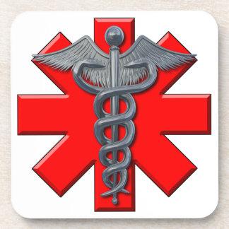 Silver Medical Profession Symbol Drink Coaster