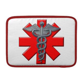 Silver Medical Profession Symbol MacBook Sleeve
