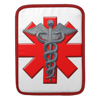 Silver Medical Profession Symbol Sleeve For iPads
