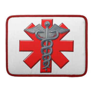 Silver Medical Profession Symbol Sleeve For MacBook Pro