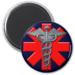 Silver Medical Profession Symbol 2 Inch Round Magnet