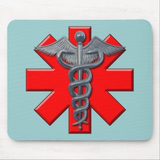 Silver Medical Profession Symbol Mouse Pad