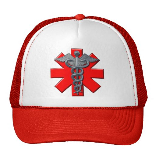 Silver Medical Profession Symbol Trucker Hat