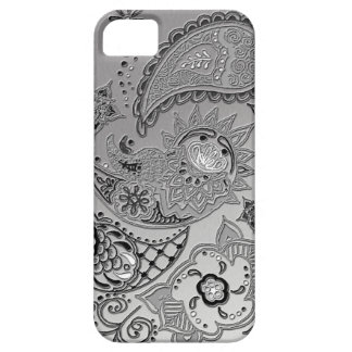 Silver Mehndi pattern design iPhone5 covers