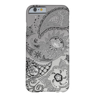 Silver Mehndi pattern design iPhone 6 case covers
