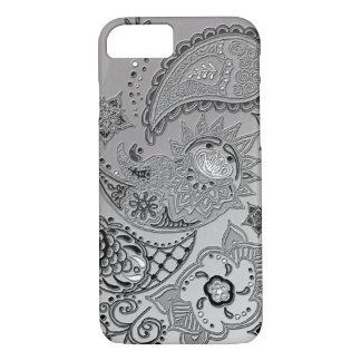Silver Mehndi pattern design iPhone 7 case covers