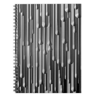 Silver Melt Spiral Notebook
