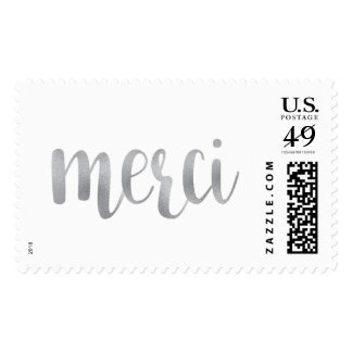 Silver merci stamps- large postage