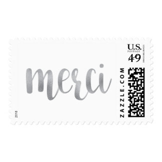 Silver merci stamps- medium postage