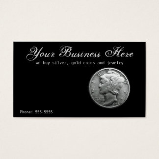 Silver Mercury Dime Buy Sell Coins Precious Metal Business Card