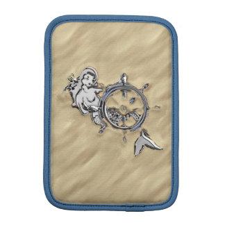 Silver Mermaid in the Sand iPad Mini Sleeve